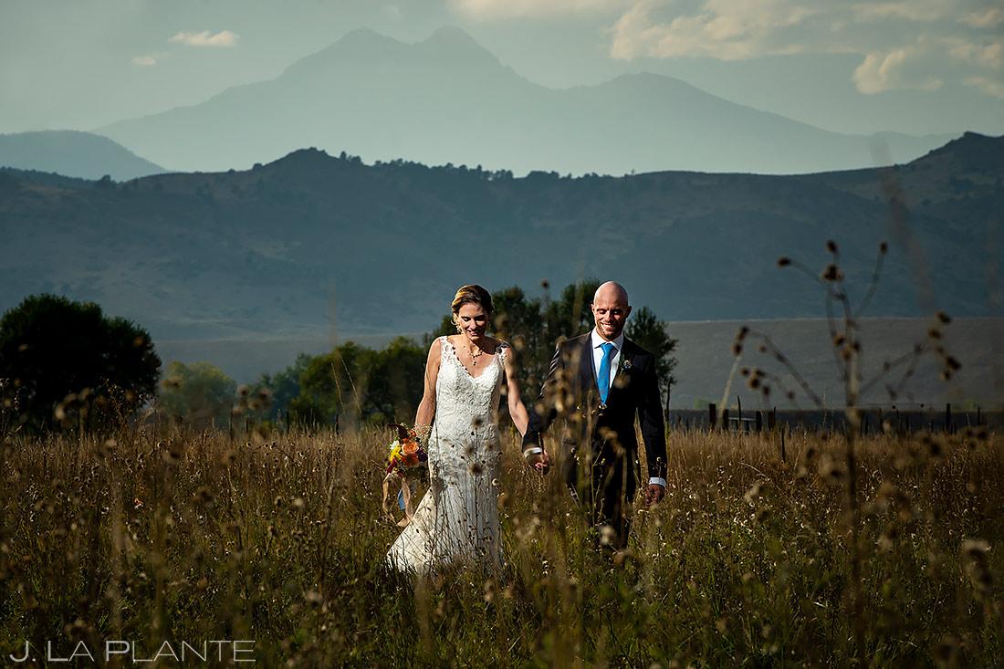Bride and Groom Longs Peak   Shupe Homestead Wedding   Boulder Wedding Photographer   J. La Plante Photo