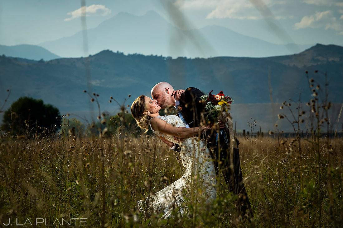 Bride and Groom Longs Peak   Boulder Wedding Photographer   J. La Plante Photo