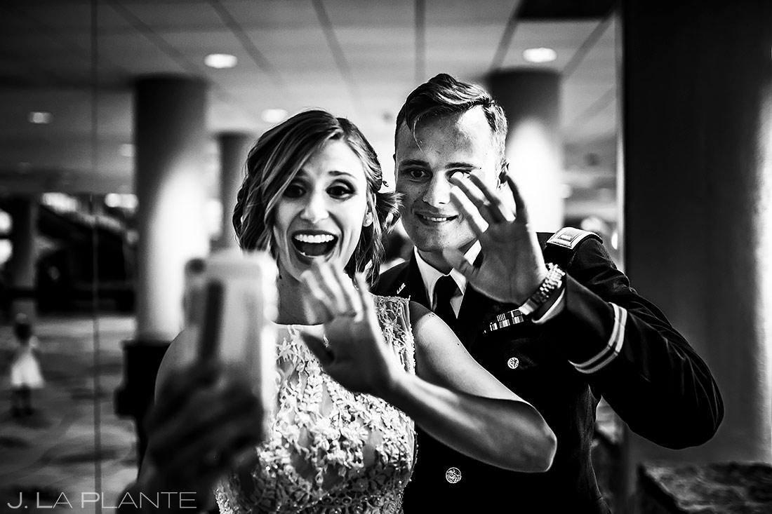Bride FaceTiming with Grandmother | Colorado Springs Wedding Photographer | J. La Plante Photo
