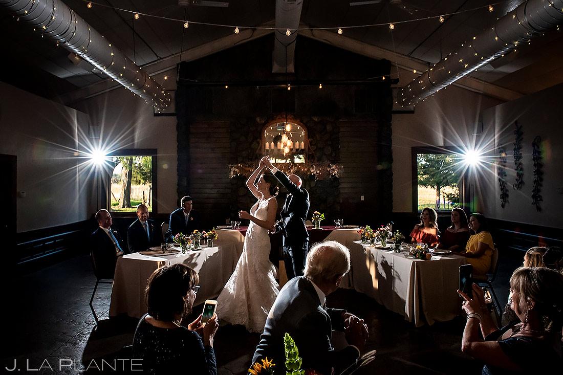 Bride and Groom First Dance   Boulder Wedding Photographer   J. La Plante Photo
