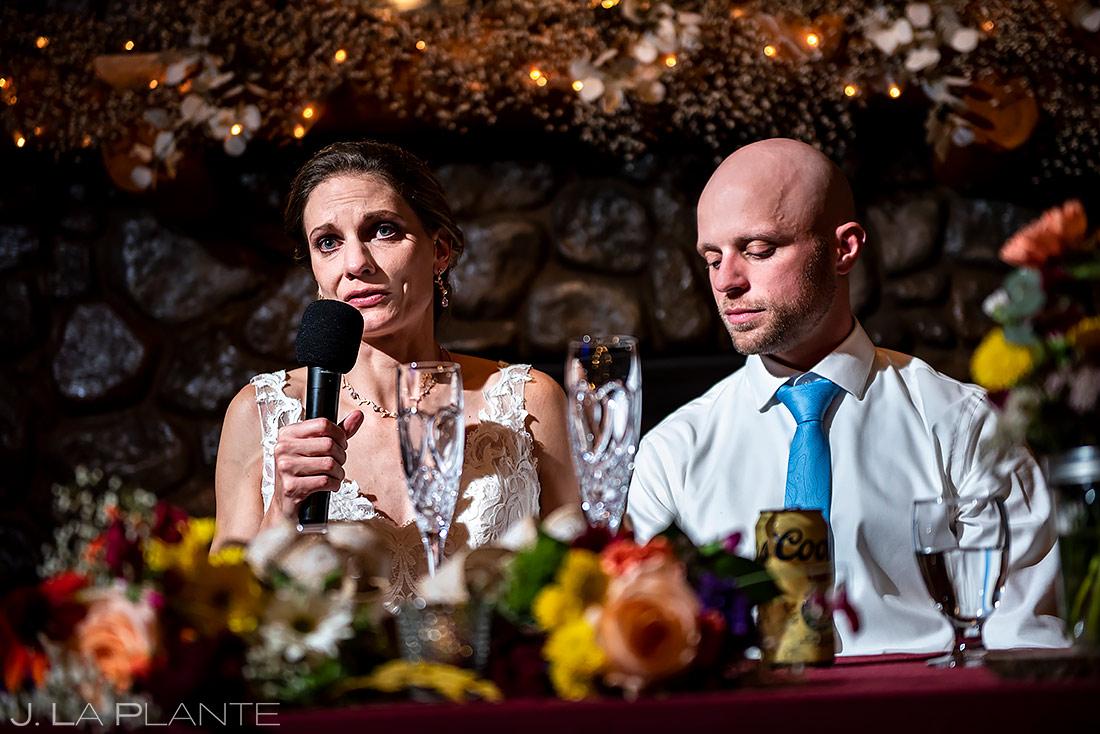 Bride Welcome Speech   Boulder Wedding Photographer   J. La Plante Photo