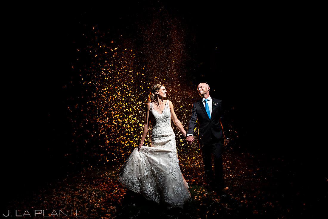 Wedding Confetti Cannons   Boulder Wedding Photographer   J. La Plante Photo