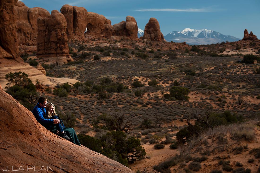 Arches National Park Engagement | Moab Engagement | Destination Wedding Photographer | J. La Plante Photo