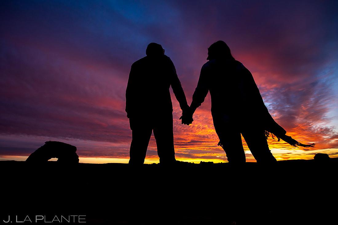 Sunset Engagement Photo | Moab Engagement | Destination Wedding Photographer | J. La Plante Photo