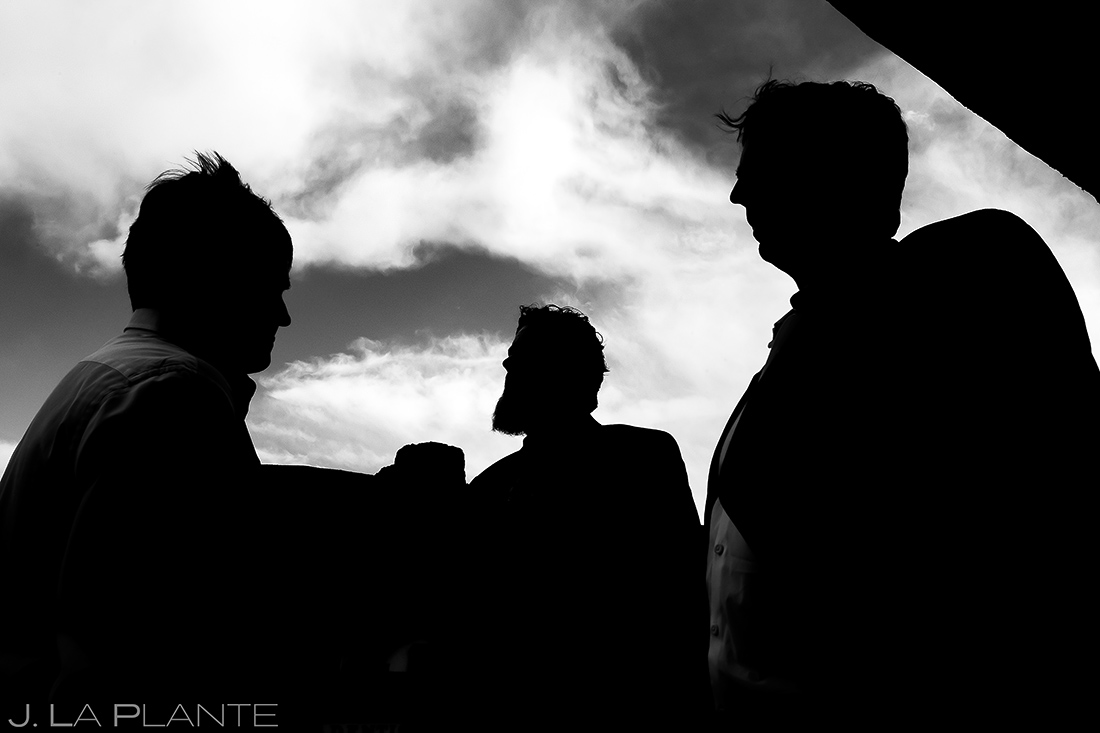 Groomsmen Silhouettes | Evergreen Lake House Wedding | Evergreen Wedding Photographer | J. La Plante Photo