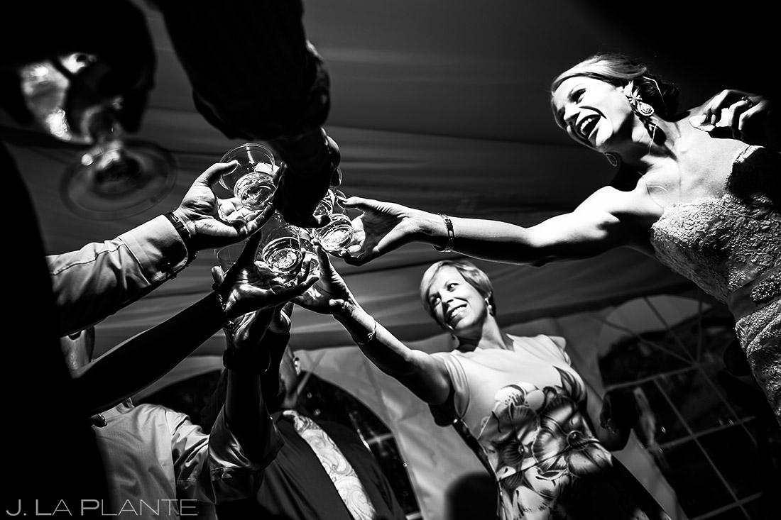Bride Doing Tequila Shots | Steamboat Grand Wedding | Steamboat Springs Wedding Photographer | J. La Plante Photo