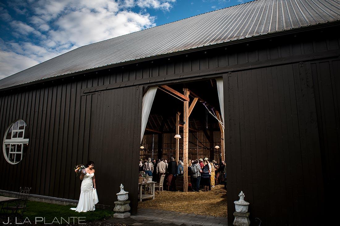 Bride Walking Down Aisle | Barnstar Events Wedding | Seattle Wedding Photographer | J. La Plante Photo