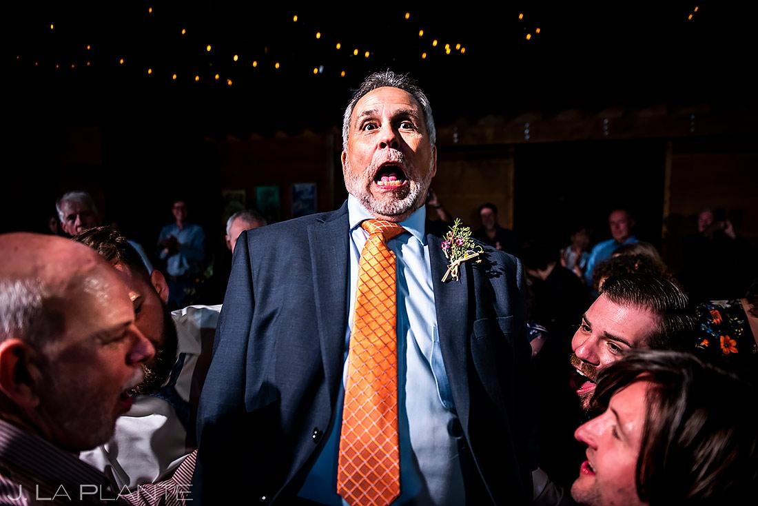 Wedding Reception Dance Party | Planet Bluegrass Wedding | Boulder Wedding Photographer | J. La Plante Photo