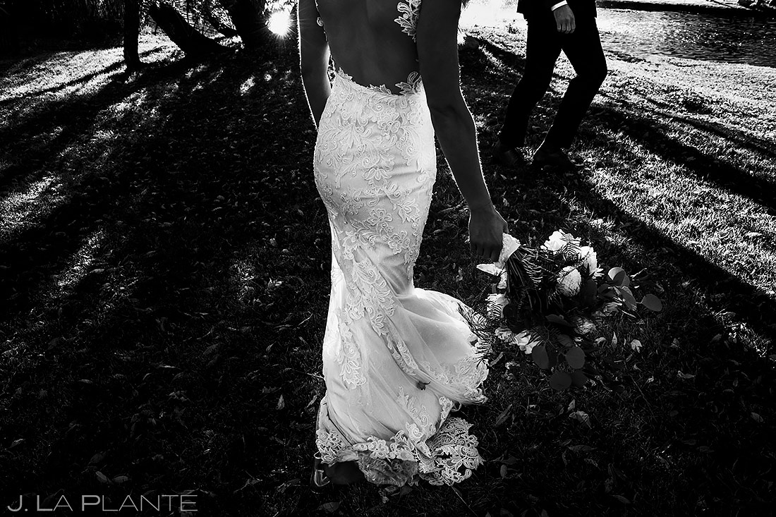 Wedding Dress | Crooked Willow Farms Wedding | Colorado Wedding Photographer | J. La Plante Photo