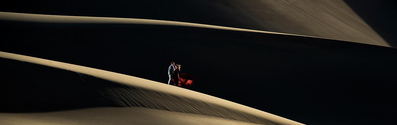 Bride and Groom on Sand Dunes | Great Sand Dunes Engagement | Colorado Wedding Photographer | J. La Plante Photo