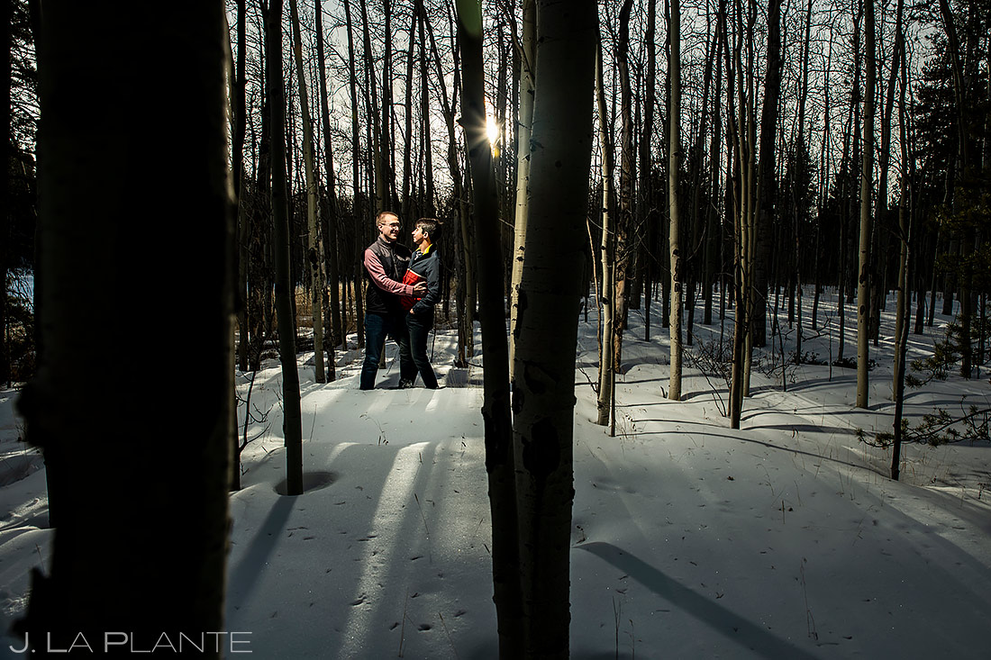 Groom and Groom in Aspen Grove | Kenosha Pass Engagement | Colorado Wedding Photographers | J. La Plante Photo