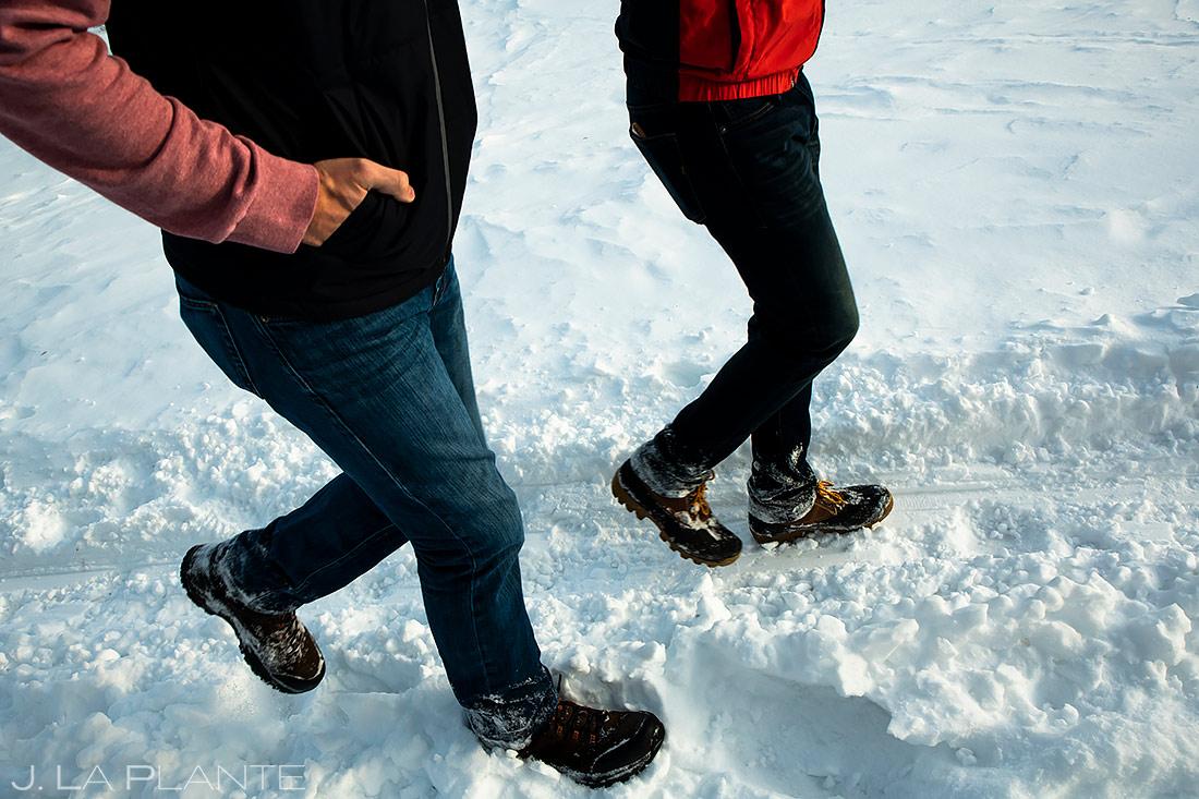 Groom and Groom Hiking | Kenosha Pass Engagement | Colorado Wedding Photographers | J. La Plante Photo