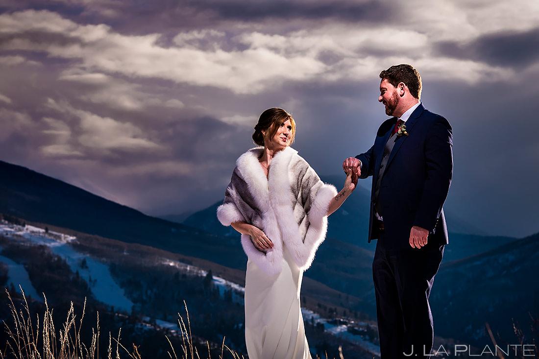 Bride and Groom Portrait   Sonnenalp Club Wedding   Beaver Creek Wedding Photographer   J. La Plante Photo