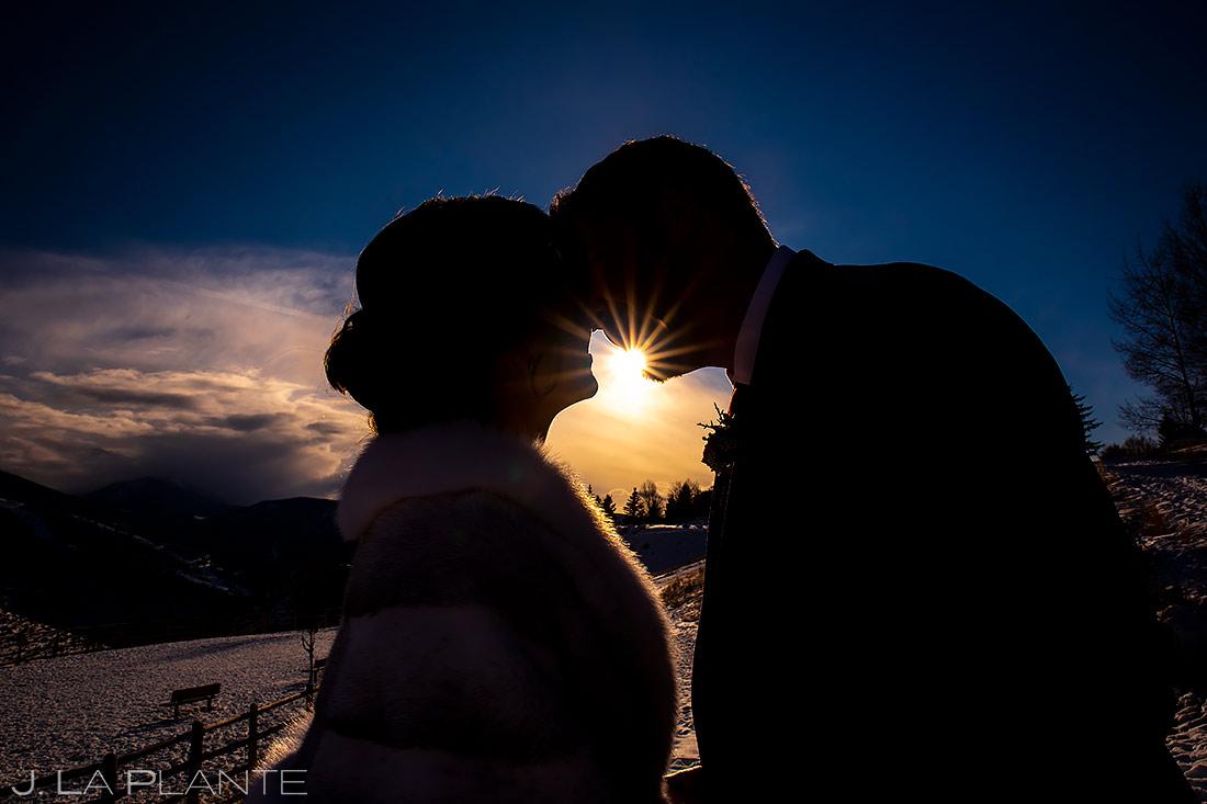 Bride and Groom Portrait   Beaver Creek Wedding   Beaver Creek Wedding Photographer   J. La Plante Photo