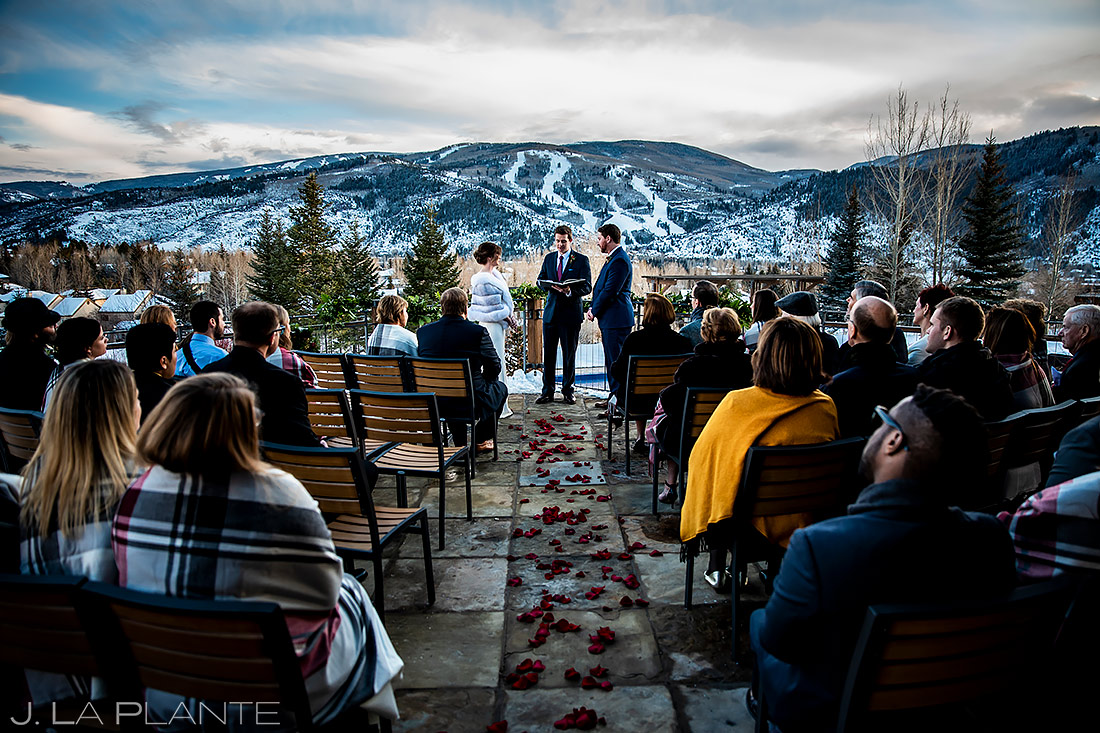 Mountain Wedding Ceremony   Beaver Creek Wedding   Beaver Creek Wedding Photographer   J. La Plante Photo