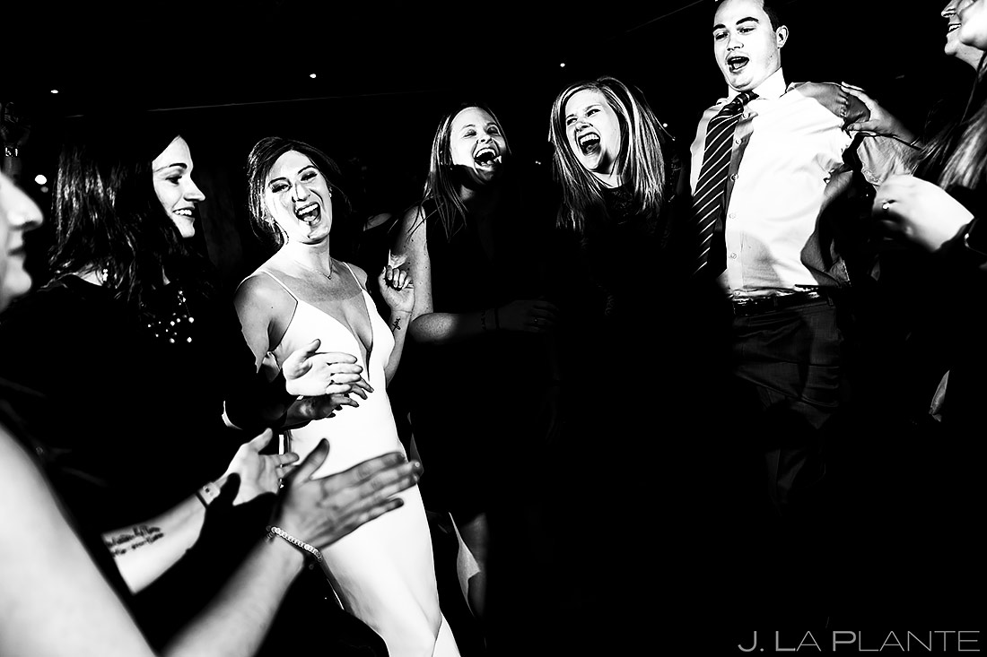 Wedding Reception Dance Party   Sonnenalp Club Wedding   Beaver Creek Wedding Photographer   J. La Plante Photo