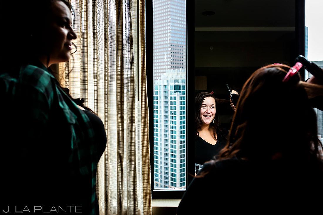 Bride Getting Ready | Urban Wedding in Colorado | Colorado Wedding Photographer | J. La Plante Photo