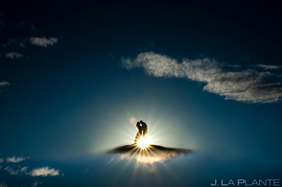 Bride and Groom on Hill | Loveland Engagement | Colorado Wedding Photographers | J. La Plante Photo