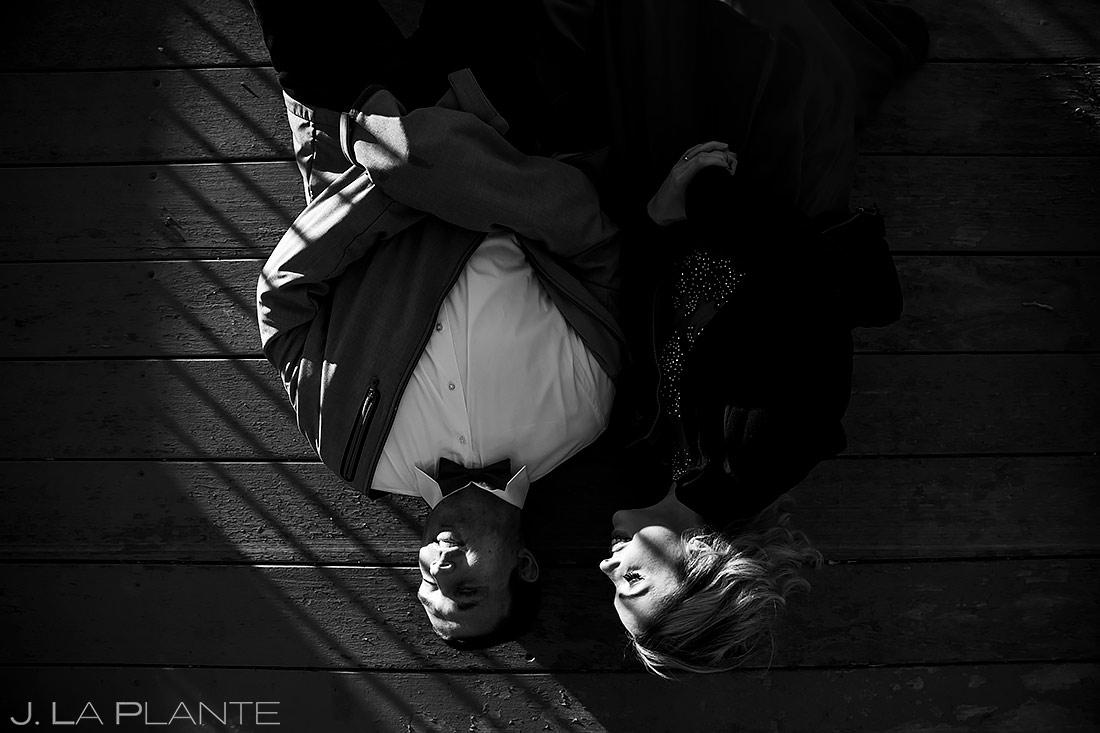 Bride and Groom Black and White | Loveland Engagement | Colorado Wedding Photographers | J. La Plante Photo
