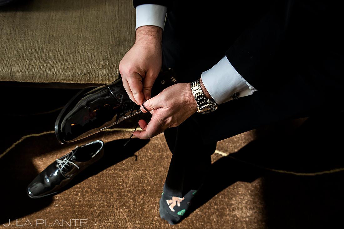 Groom Getting Ready | Urban Wedding in Colorado | Colorado Wedding Photographer | J. La Plante Photo