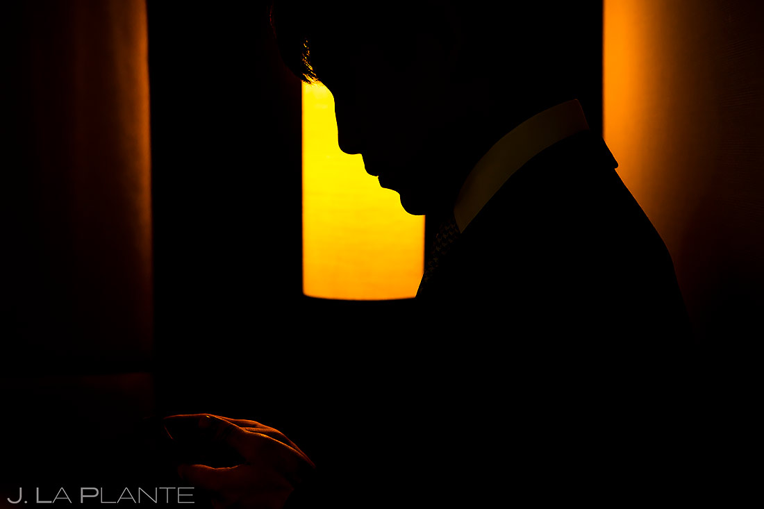 Groomsman Silhouette | University of Maryland Wedding | Destination Wedding Photographer | J. La Plante Photo