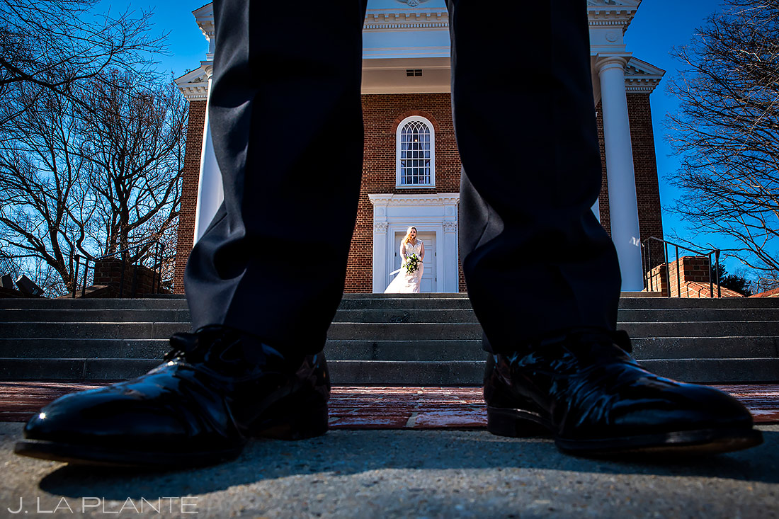 Bride and Groom First Look | Washington DC Wedding | Destination Wedding Photographer | J. La Plante Photo