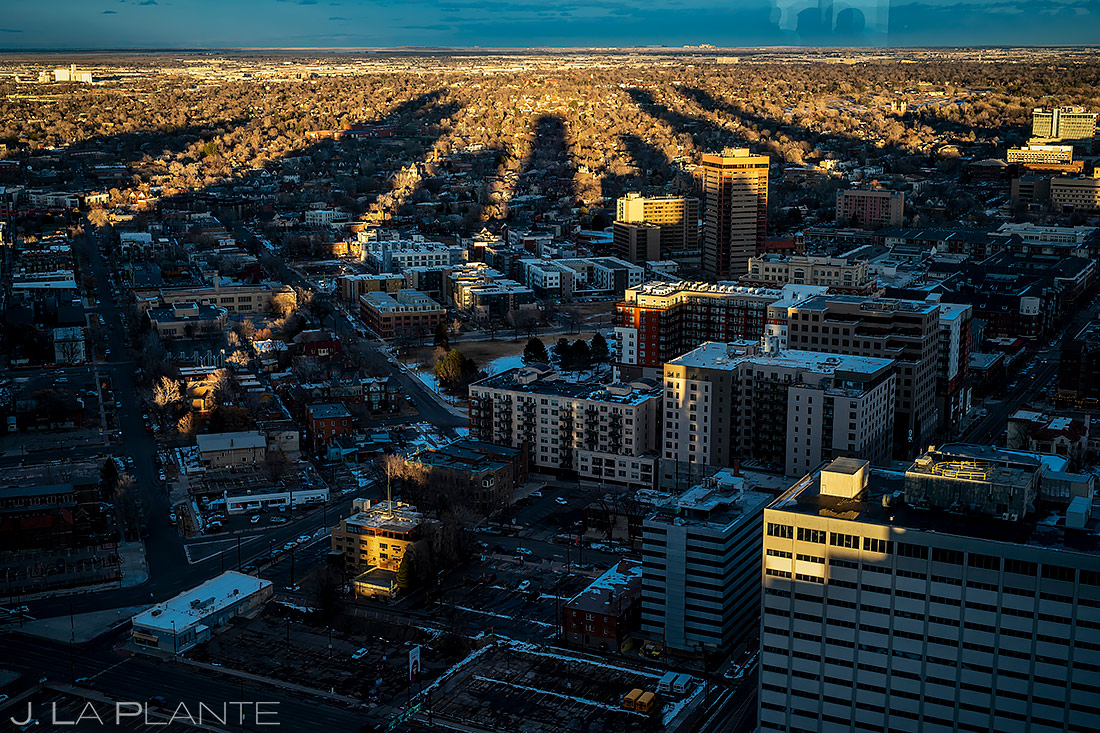 Denver Skyline | Downtown Denver Wedding | Denver Wedding Photographer | J. La Plante Photo