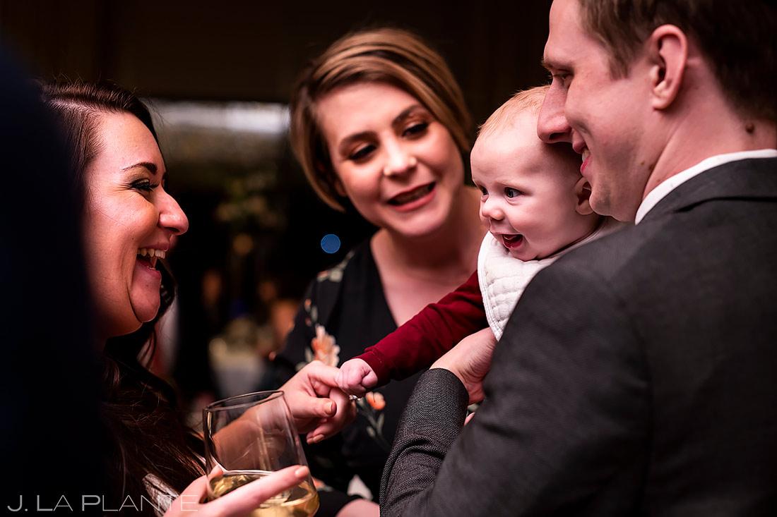Wedding Reception Cocktail Hour | Urban Wedding in Colorado | Colorado Wedding Photographer | J. La Plante Photo
