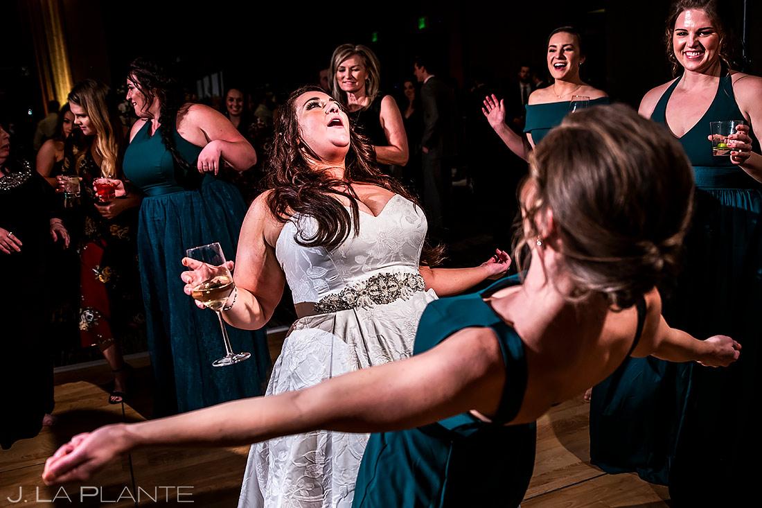 Wedding Reception Dance Party | Urban Wedding in Colorado | Colorado Wedding Photographer | J. La Plante Photo