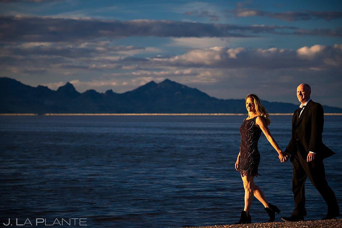 Bride and Groom on the Beach | Utah Engagement | Destination Wedding Photographer | J. La Plante Photo
