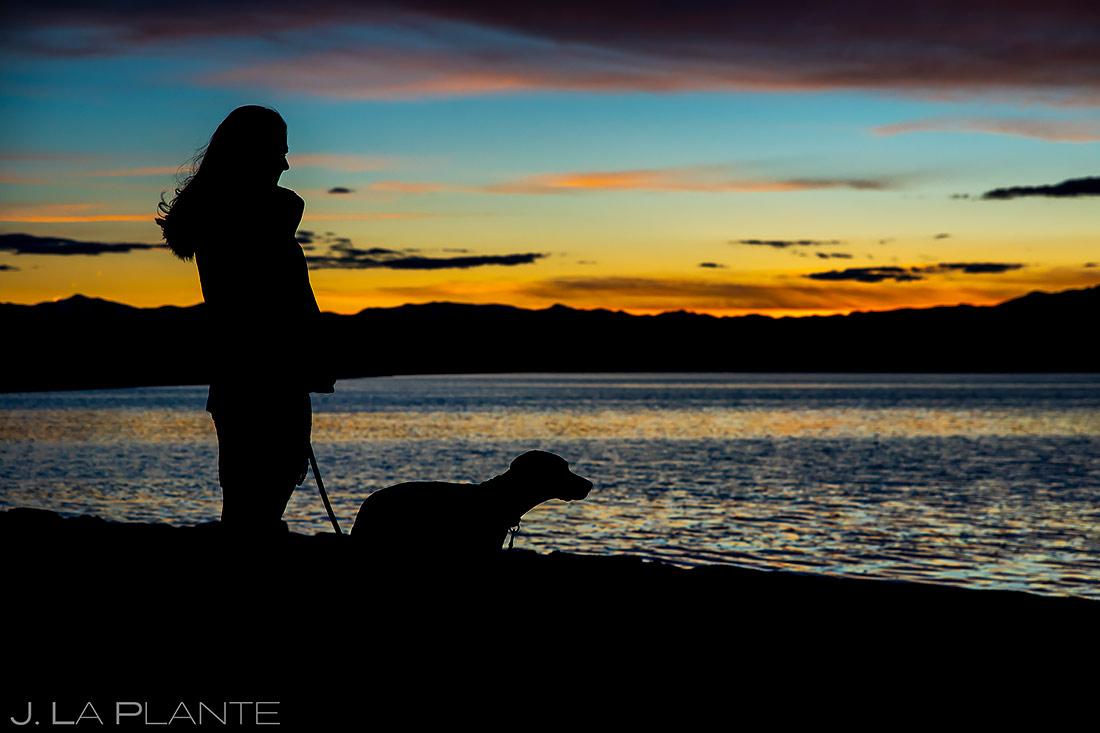 Sunset Engagement Photo | Bonneville Salt Flats Engagement | Destination Wedding Photographer | J. La Plante Photo