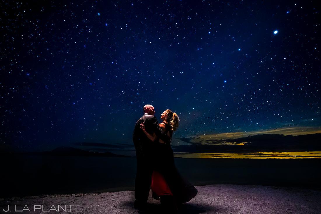Bride and Groom Under the Stars | Utah Engagement | Destination Wedding Photographer | J. La Plante Photo