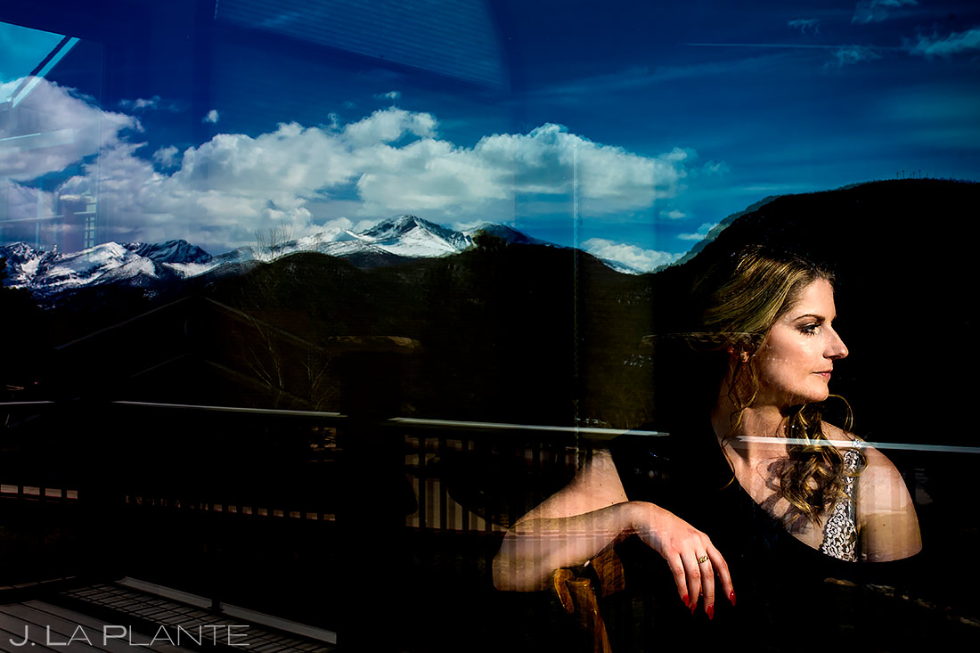 Bride Getting Ready | Estes Park Wedding | Estes Park Wedding Photographer | J. La Plante Photo
