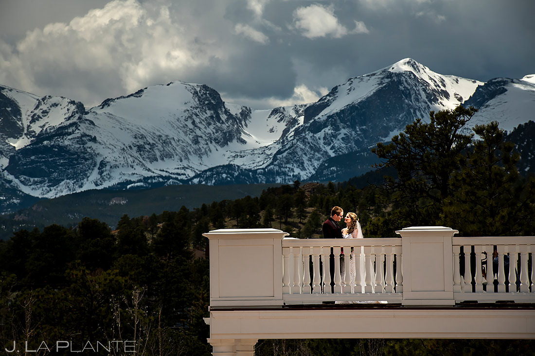 Bride and Groom First Look | Stanley Hotel Wedding | Estes Park Wedding Photographer | J. La Plante Photo