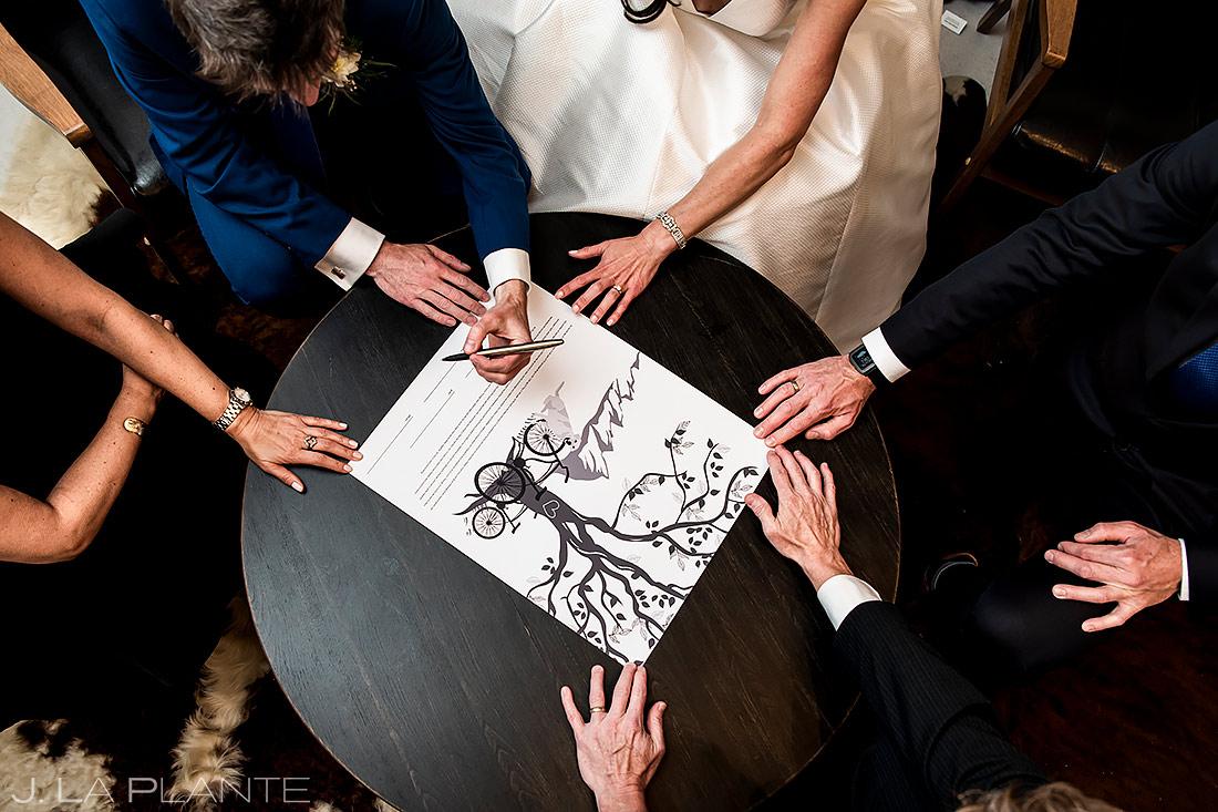 Jewish Wedding Ketubah | Longmont Wedding | Boulder Wedding Photographer | J. La Plante Photo