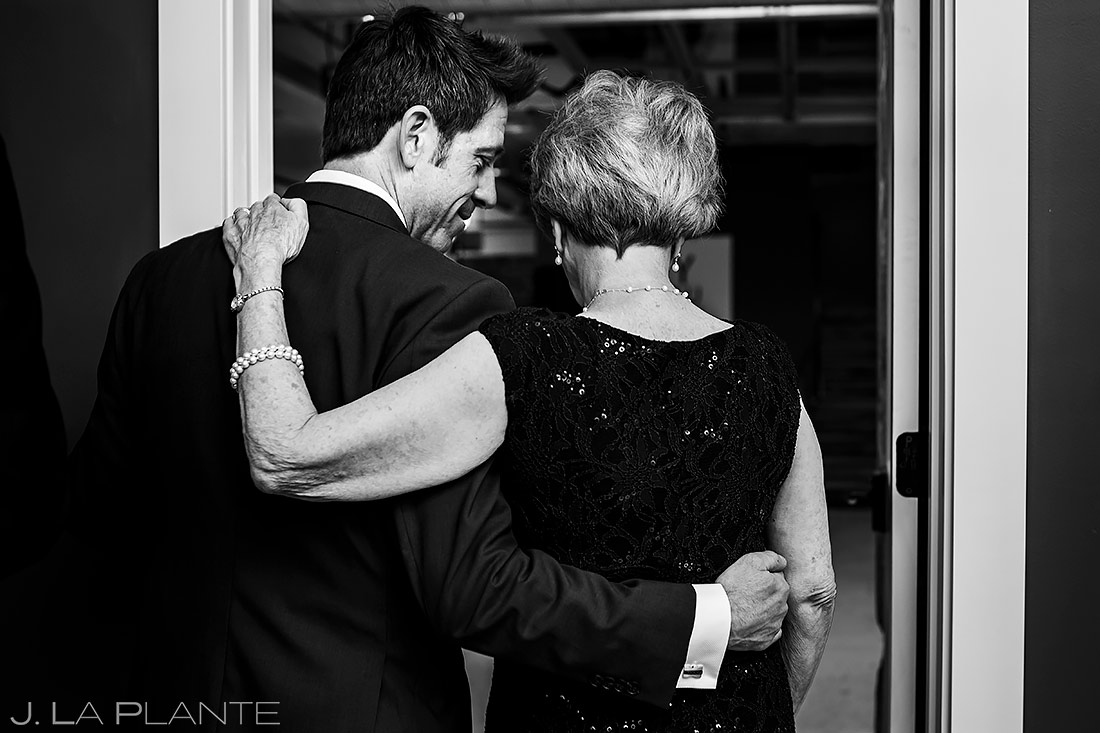 Groom Hugging Mother | St Vrain Wedding | Boulder Wedding Photographer | J. La Plante Photo