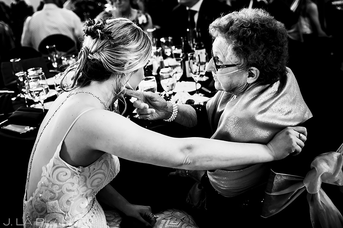 Bride with Grandmother | Estes Park Wedding | Estes Park Wedding Photographer | J. La Plante Photo