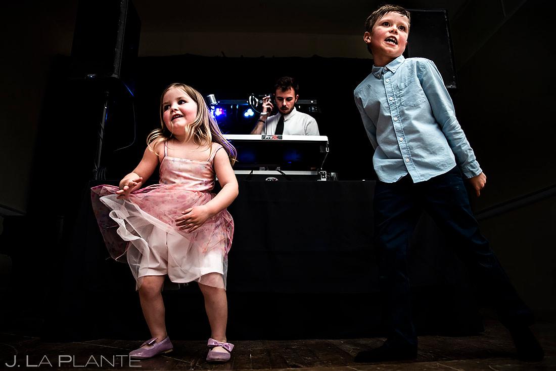Funny Wedding Kids Dancing | Stanley Hotel Wedding | Estes Park Wedding Photographer | J. La Plante Photo