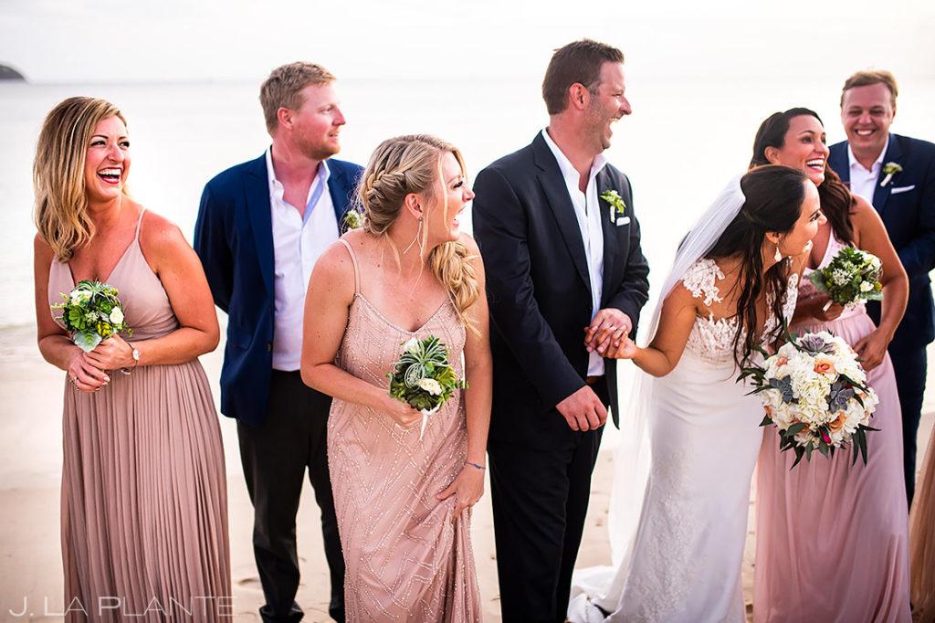 Wedding Party on Beach | St Lucia Wedding | Destination Wedding Photographer | J. La Plante Photo
