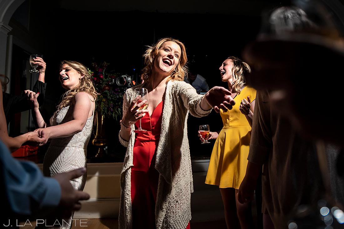 Wedding Reception Dance Party | Estes Park Wedding | Estes Park Wedding Photographer | J. La Plante Photo