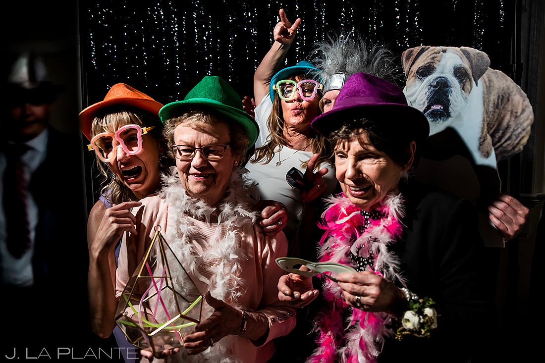 Grandmothers in Photo Booth | Estes Park Wedding | Estes Park Wedding Photographer | J. La Plante Photo