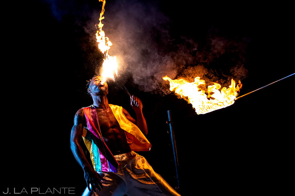 Fire Dancers Performing | St Lucia Wedding | Destination Wedding Photographer | J. La Plante Photo