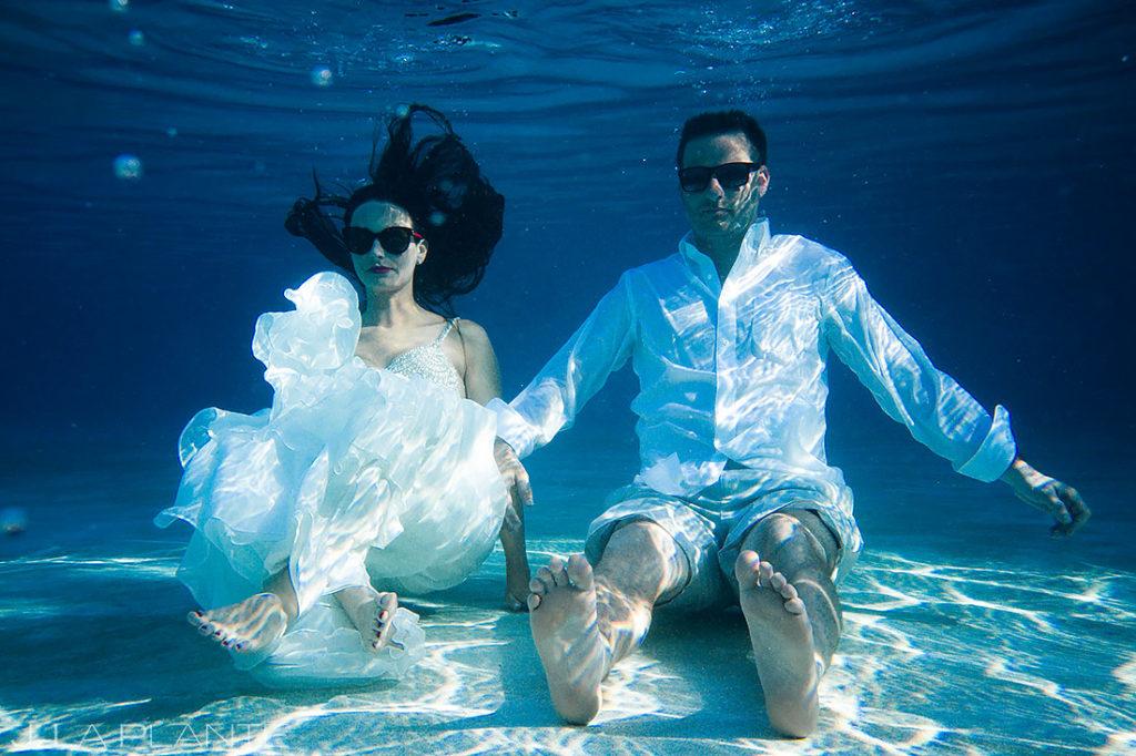 Underwater Bride and Groom Portrait | St Lucia Wedding | Destination Wedding Photographer | J. La Plante Photo