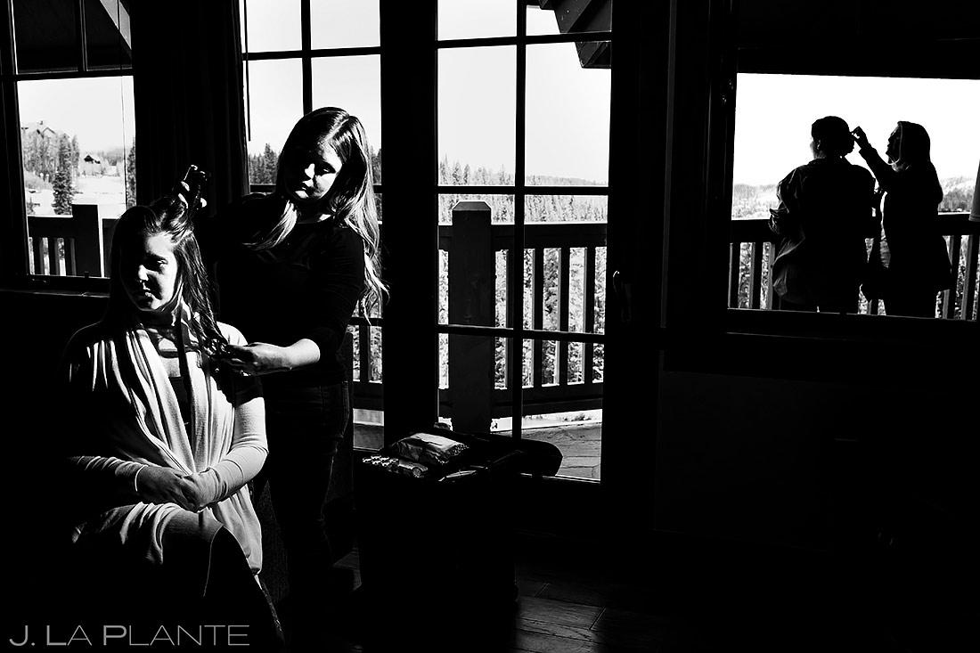 Bride Getting Ready   Breckenridge Wedding   Breckenridge Wedding Photographer   J. La Plante Photo