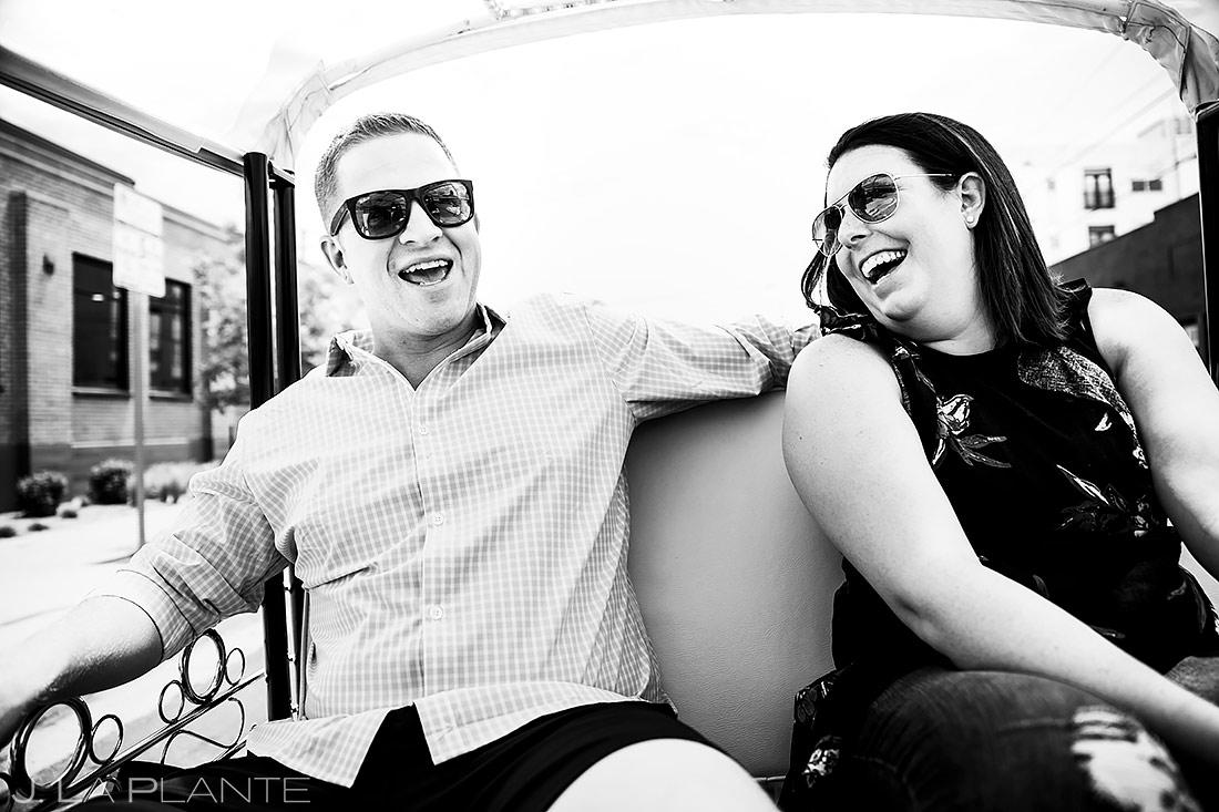 Bride and Groom Riding in Tuk Tuk | Denver Pre-wedding Photos | Denver Wedding Photographers | J. La Plante Photo