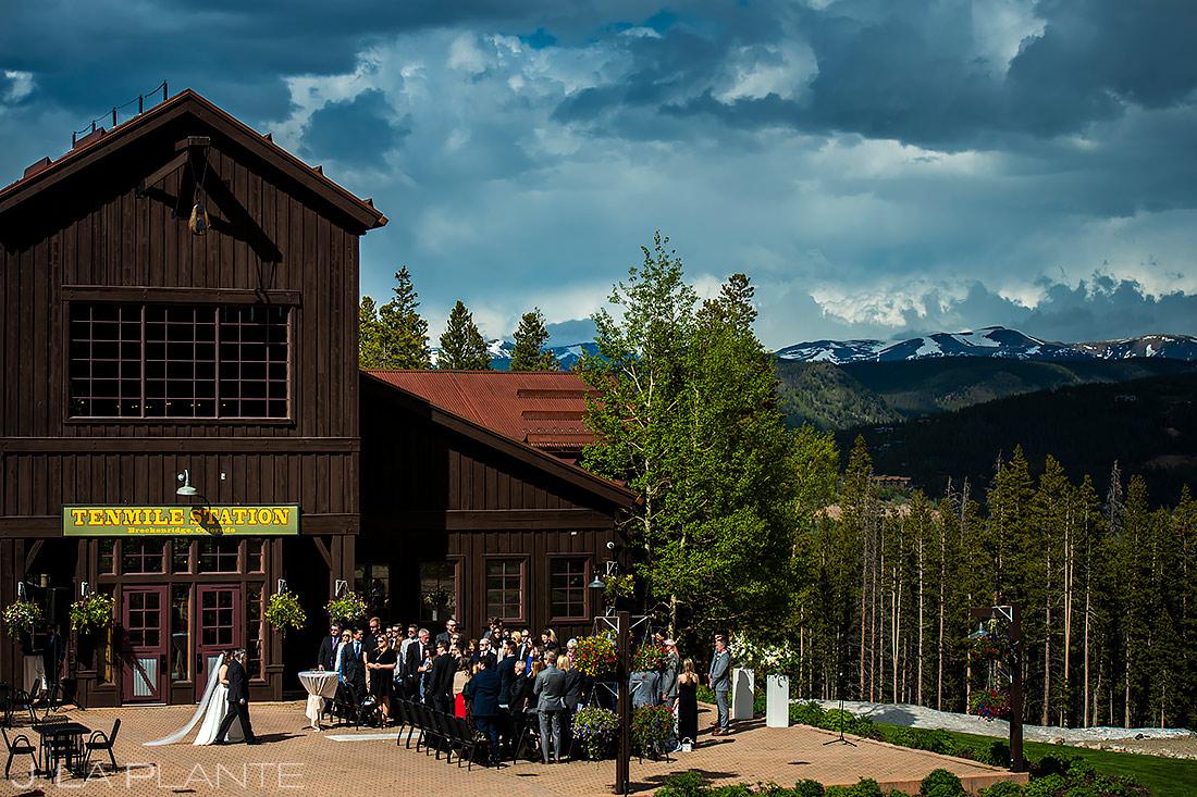 Mountain Wedding Ceremony   Tenmile Station Wedding   Breckenridge Wedding Photographer   J. La Plante Photo