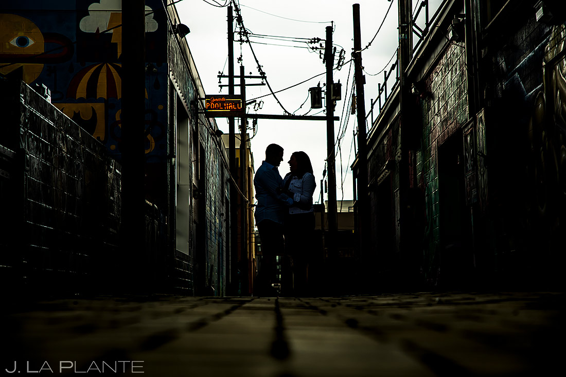 Engagement Portrait | RiNo Engagement | Denver Wedding Photographers | J. La Plante Photo