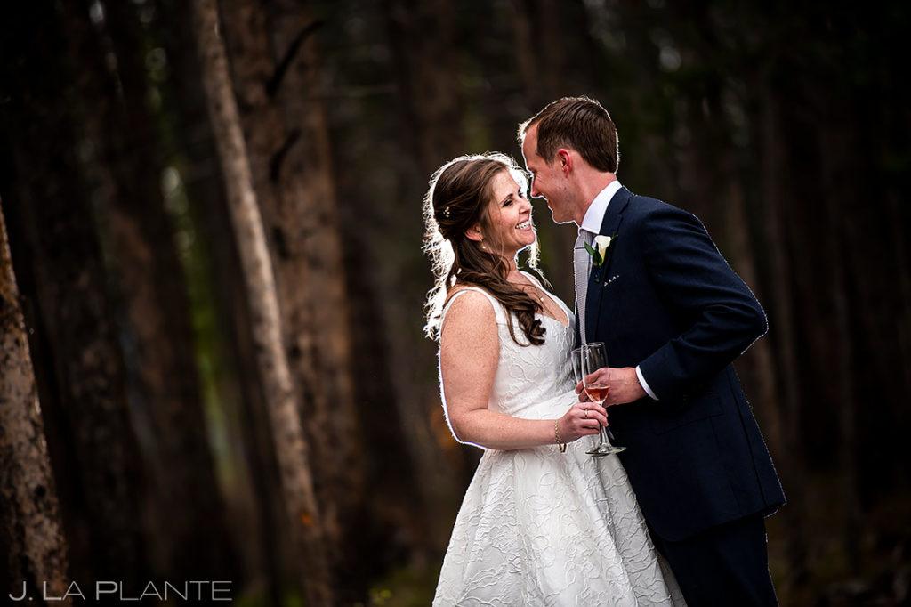Bride and Groom Portrait | Tenmile Station Wedding | Breckenridge Wedding Photographer | J. La Plante Photo
