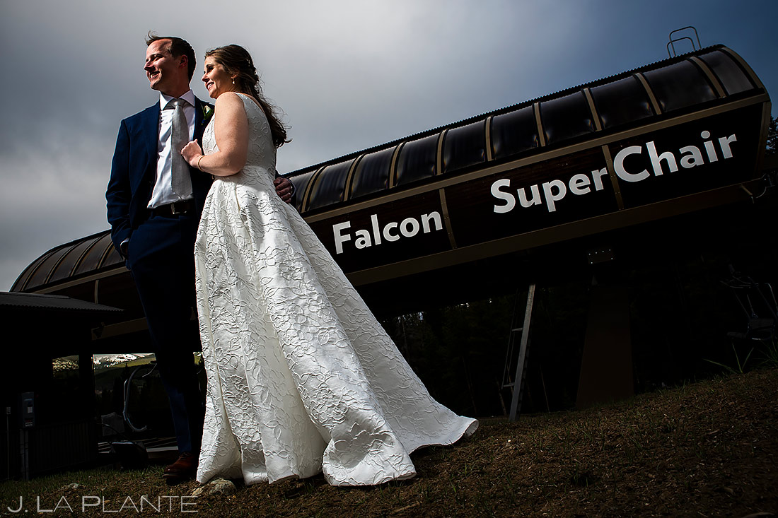 Bride and Groom Portrait   Tenmile Station Wedding   Breckenridge Wedding Photographer   J. La Plante Photo
