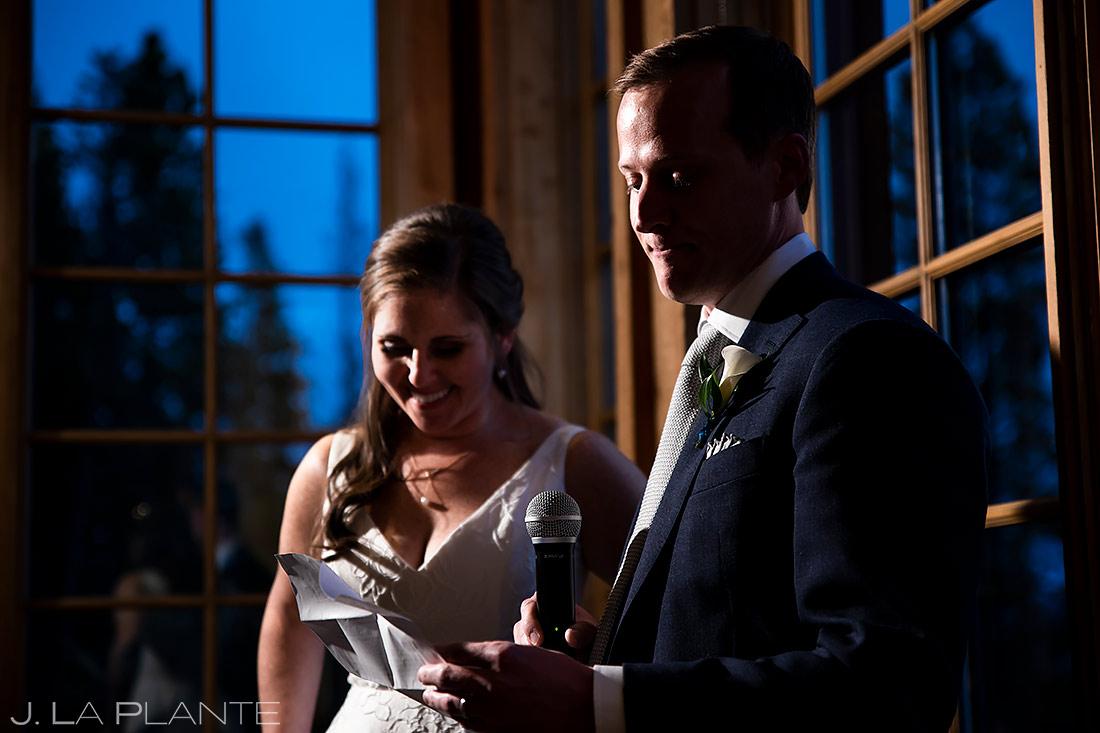Wedding Toasts   Breckenridge Wedding   Breckenridge Wedding Photographer   J. La Plante Photo